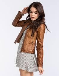 jacket leather hipster leather jacket dress in boho brown spring jacket