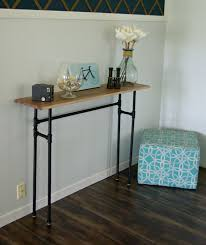Diy Rustic Sofa Table How To Build A Rustic Table Using Galvanized Pipes