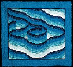 UFO Spotlight: Bargello Blues Quilt | Quilts By Jen & Bargello Blues Quilt Adamdwight.com