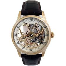 rotary gs02520 03 mens mechanical skeleton face gold tone watch rotary rotary gs02520 03 men s mechanical skeleton face gold tone watch