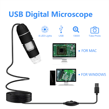 Electron Led Lights Us 10 82 44 Off 500x 1000x 8 Leds Digital Microscope Usb Interface Handheld Electron Microscopes With 8 Leds Without Bracket 300000 Pixels In