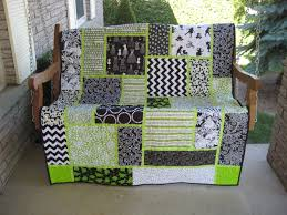 Black, white and lime quilt Pattern from Black Cat Creations ... & Black, white and lime quilt Pattern from Black Cat Creations, called Big  Block Quilt Adamdwight.com