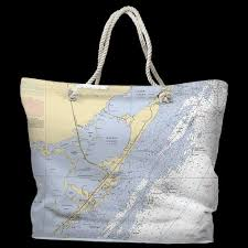 Key Largo Chart Fl Key Largo Fl Water Repellent Nautical Chart Tote Tote Bag