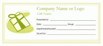 free gift certificate template microsoft word