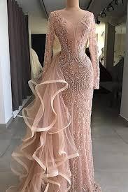 <b>Champagne</b> Tulle <b>Crystal Beaded</b> Floor Length Off Shoulder <b>Prom</b> ...