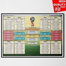 World Cup 2018 Wall Chart Russia World Cup Football Wall Chart 2018 A3 A2 2 99