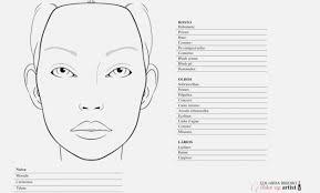 printable face charts mac makeup face templates cartooncreative