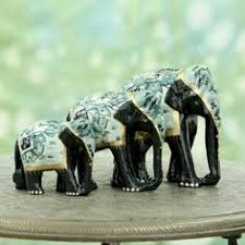 Small Picture CraftVatika Elephant Statue Handpainted Animal Figurine Metal