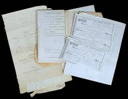 small ledger books small archive of receipts and ledger pages relating to wells fargo