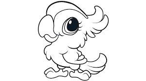 Small Picture Learning Friends Parrot coloring printable