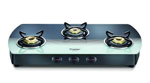 Gas Cooktop Glass Buy Prestige Premia Glass 3 Burner Gas Stove Black White Online