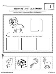 Letter L Beginning Sound Picture Match Worksheet