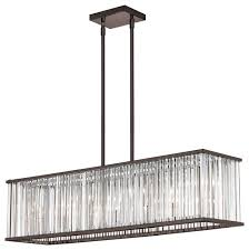 linear crystal chandelier. Americana 7-Light Linear Chandelier Crystal C