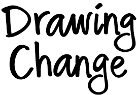 500DrawingChangeCapsLogo visual facilitation with templates on template for a 6 month event timeline