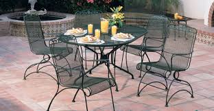 Enchanting Outdoor Furniture Wrought Iron Dining Sets Cast Iron