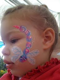 diy dragonfly face paint