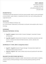 Job Resume Examples For College Students Beauteous Resumes Templates For College Students Resume Samples For College