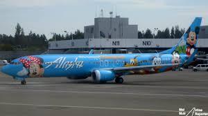 alaska airlines boeing 737 900 in disneyland livery photo mal muir