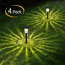 Patio Lights In Ground Solar Light Outdoor 4 Pack 10 Lumens Bright Wireless Outdoor Sun Powered Landscaping Lights In Ground Spike Pathway Auto On Off For Pathway Yard