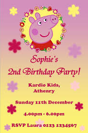 Personalised Birthday Invitations For Kids Personalised Peppa Pig Invitations Design 4