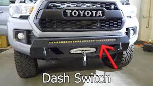 Toyota Pickup Led Dash Lights Led Light Bar Install Dashboard Switches On 2018 Toyota