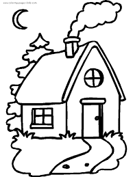 Small Picture Printable House Coloring Pages 164 Houses And Homes Color Page