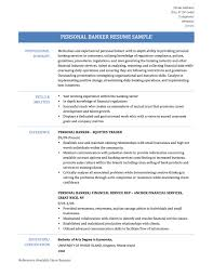 Download Personal Banker Resume Haadyaooverbayresort Com