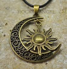 vintage bronze style celestial sun
