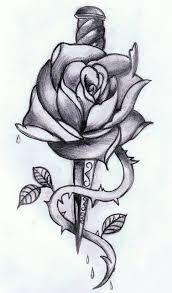 эскизы тату кинжал и роза клуб татуировки фото тату значения эскизы