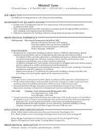 Training Resume Samples - Kleo.beachfix.co