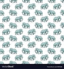 Elephant Pattern Custom Elephant Pattern Royalty Free Vector Image VectorStock