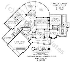 Harmony Mountain Cottage House Plan   Active Adult House Plansharmony mountain cottage house plan   st floor plan