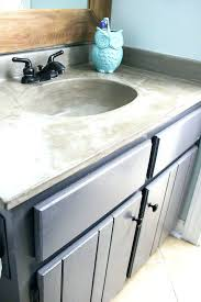 Install Bathroom Sink Impressive Undermount Sink With Concrete Countertops Solidariome