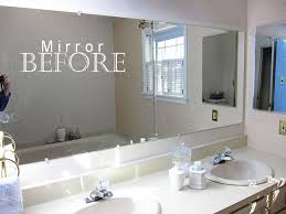 framed bathroom mirror. large frameless bathroom mirror before the moulding was added framed g