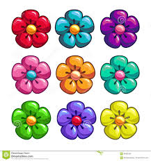 colored pictures of flowers.  Pictures Download A Set Of Colored Flowers Stock Vector Illustration Blue   84062395 With Colored Pictures Of Flowers W