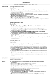 Small Business Specialist Sample Resume Business Specialist Resume Samples Velvet Jobs 12