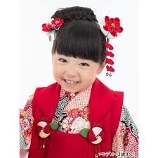 かんざし 髪飾り 七五三 3歳 7歳 三歳 七歳 赤 つまみ細工 ちりめん 日本