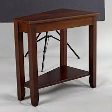 dark wooden side table unique dark wood narrow end table for small living room furniture ideas