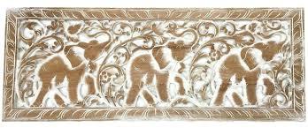 carved wood wall art decor elephant wood carved wall art animal wall panel decor white wash