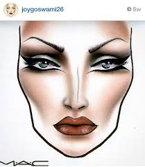 mac face chart by joygoswami26 from insram beautiful makeup ideas in 2019