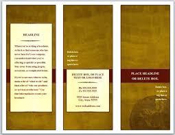 Z Fold Brochure Template Word Free Templates Pics Medium