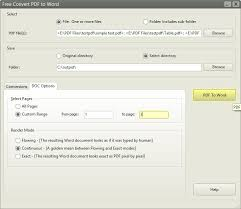 free pdf to word converter software