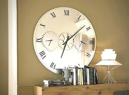 mirrored wall clocks large outstanding mirror wall clock large extra large mirrored wall clock round mirror
