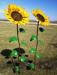 67 Recycled Metal Giant Sunflower Stake - Yard Decor ...