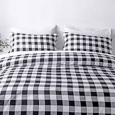 white plaid king size comforter set