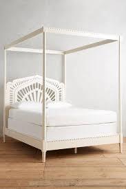 Lacework Cream Canopy Bed