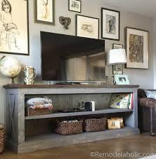 farmhouse style tv stand. Few Months Back We Shared This Console Table On Instagram As One Of Our Imaremodelaholic Features And You All LOVED It Just Much Did In Farmhouse Style Tv Stand