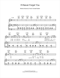 forget you piano sheet music ill never forget you sheet music by birdy piano vocal guitar