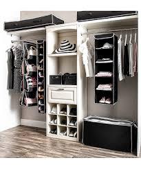 black black white seven piece dorm room closet organization set alternate image 5