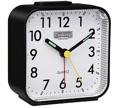clock peakeep og travel alarm clock silent no ticking lighted
